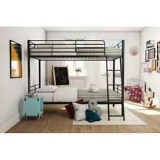 Twin Size Bunk Bed Metal With Guardrails Convertible Safe Sturdy Brand New