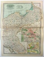Original 1902 Map of Eastern Germany by The Century Co. Prussia Antique