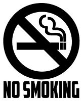 NO SMOKING Vinyl Decal Sticker Window Wall Business Office Door Sign Symbol Home