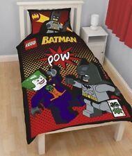 OFFICIAL Lego Batman Joker Kids Reversible Panel Duvet Quilt Cover Single Bed
