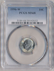 1996-W ROOSEVELT DIME 10C ~ PCGS MS 68