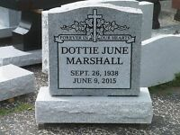 Cemetery grave stone 24x6x24 100% granite includes engraving free shipping