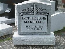 Cemetery headstone monument 100% granite, gray engraving included