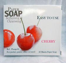 Handbag / Pocket / Travel Soap - Soap Leaves in Carry Case - Cherry Scent