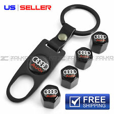 VALVE STEM CAPS KEYCHAIN KEYRING WHEEL FOR AUDI KEY FOB KEYS VS03 US SELLER