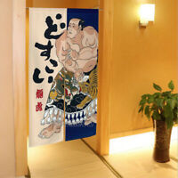 Noren Japanese Doorway Divider Curtain Room Tapestry Dragon Tiger Warrior Print