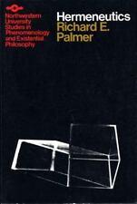 Studies in Phenomenology and Existential Philosophy: Hermeneutics by Richard E.