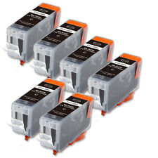 6 BLACK Printer Ink with chip fits Canon PGI-5 iP4200 iP4300 iP4500 MP530