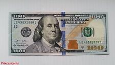 LUCKY RARE*SERIAL NUMBER SOLID 2888 $100 ONE HUNDRED DOLLAR BILL UNC-