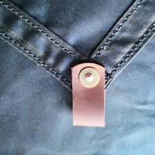 Small tarp / ground sheet heavyweight waxed canvas, leather wildcamping