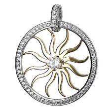 1 Anhänger Sonne  925 Silber mit Zirkonia