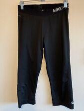 Nike Pro Dri Fit Size Medium Women's Capri Legging Black Color