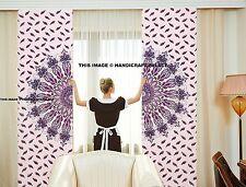 Indian Mandala Peacock Cotton Curtain Tapestry Door Decor Window Curtains