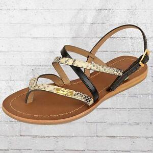 Les Tropeziennes Frauen Zehentrenner Sandalen Home schwarz schlange Sandaletten