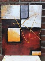 """Abstract Genuine Oil Painting 16"""" x 20"""" On Stretched Canvas #38"""