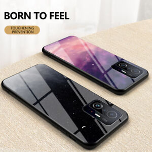 For Xiaomi Mi 11T Pro Shockproof Starry Sky Tempered Glass Hard Back Case Cover
