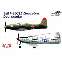 Dora Wings 7201D Bell P-63C&E Kingcobra Dual combo 2 in 1 1:72 Plastic Model Kit