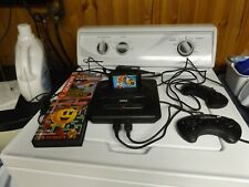 Sega Genesis Console 2 controllers RF Switch Power cord Sonic 2 ms Pac Man & Pac