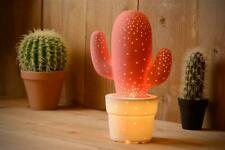 dekorative Tischleuchte Kaktus weiß E14 H30,5cm Ø20cm Cactus Lucide Tischlampe