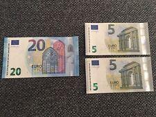 €5 & €20 Euro European Bank Note Notes  (€30) Holiday Money Euros