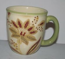 Set of 4 JACLYN SMITH Traditions Turkish Floral Ivory 13 Oz. Cups Mugs