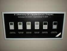 Rare Collectors Apple Ipod Classic Framed Art 1st 2nd 3rd 4th 5th & 6th Picture