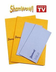 Shamwow Super Absorbent Towels Original Sham-wow from Germany 2x Large 2x Small