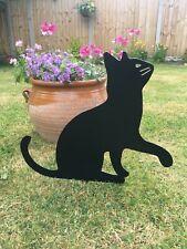 11x23cm Rusty Metal Cat Garden Stake Decoration Rust Decor