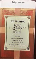 A9 HALLMARK 40 YEARS RUBY JUBILEE PRIEST  FATHER MINISTER CARD