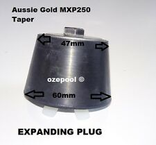 Expansion Plug TAPERED 50mm, TUFF RUBBER EXPANDS TO SEAL PIPE, WING NUT MXP250