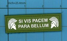 GREEN PVC SI VIS PACEM PARA BELLUM SPARTAN USA TACTICAL ISAF TAB MORALE PATCH