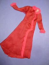 Vtg Barbie BEST BUY 70s Doll Clothes ROSE RUFFLED ROBE 1974 7757 #3