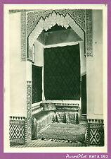 PHOTO ANCIENNE DU MAROC : HABITATION ,CHAMBRE SALON TRADITIONNELLE, 1900 -A192