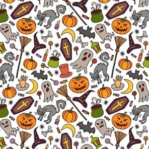 NON PERSONALISED CASPER GHOST CASKET HALLOWEEN WRAPPING GIFT WRAP PAPER LARGE