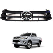 Fit 2015 - 2017 Toyota Hilux Revo Pickup Ute Front Grille Grill Black Oem