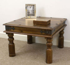Solid Wood Rustic Square Side & End Tables