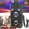 Portable Bluetooth Karaoke Speaker Machine System Microphone LED Speakers Remote
