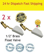 2 X  1/2 FLOAT VALVE SOLID BRASS SAVE  WATER TROUGH AUTOMATIC HORSE DOG CATTLE