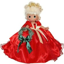 """Precious Moments 12"""" Make the Holidays Sparkle & Shine Blonde Red Doll Christmas"""