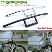 """Moto Guidon Z-Handlrbar 7/8""""22mm pour Honda Yamaha Suzuki Kawasaki Harley Bobber"""