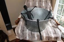 Pottery Barn Walking Dead Skeleton X LARGE Party Cooler Galvanized Bucket GOTHIC