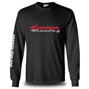 Genuine Honda Racing CBR Motorcycle Racing Biker Black Long Sleeve Men T-Shirt