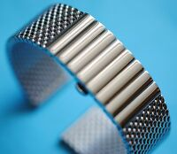 Luxus, Uhrenband Stahlband Butterflyschliesse  20 22 24mm Staib Made in Germany