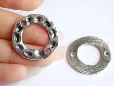 Anillo Redondo 10 Encantos Colgantes Plata Tibetana fabricación de joyas al por mayor Reino Unido IR8