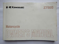 GENUINE 2004 KAWASAKI Z750S Z 750 S OWNERS MANUAL 99986-1262 2005 ZR750K1