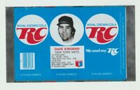 1977 Dave Kingman RC Cola can flat NY Mets