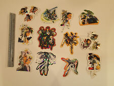 GUNDAM WING laser Hologram Foil Stickers!  Pack of 24 large stickers! Series 1