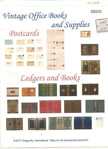 Kit - VINTAGE OFFICE BOOKS Sheet  SB242 dollhouse Dragonfly 1/12 scale wood