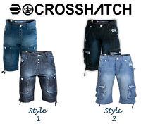 Men's Crosshatch Logan & Player Denim Jeans Cargo Combat Sports Summer Shorts