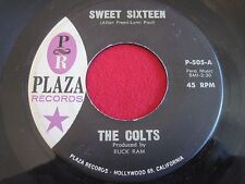 DOOWOP 45 - THE COLTS - SWEET SIXTEEN / HEY PRETTY BABY - PLAZA 505